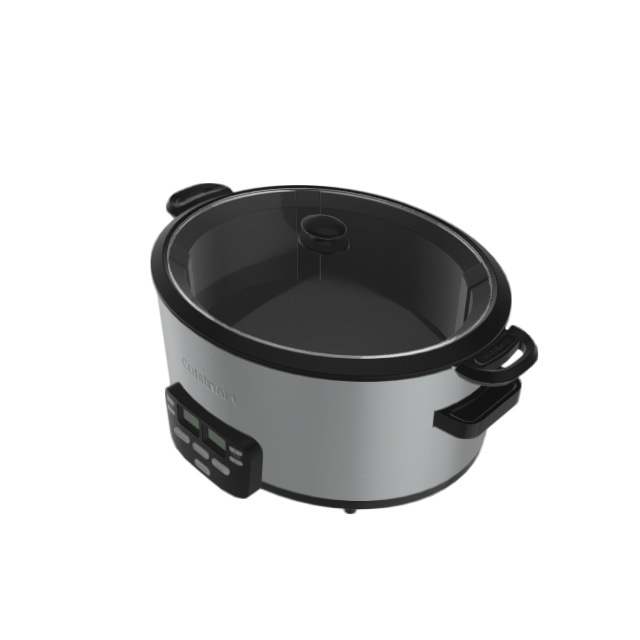 Cuisinart Cook Central 4-Quart Stainless Steel Oval Slow Cooker